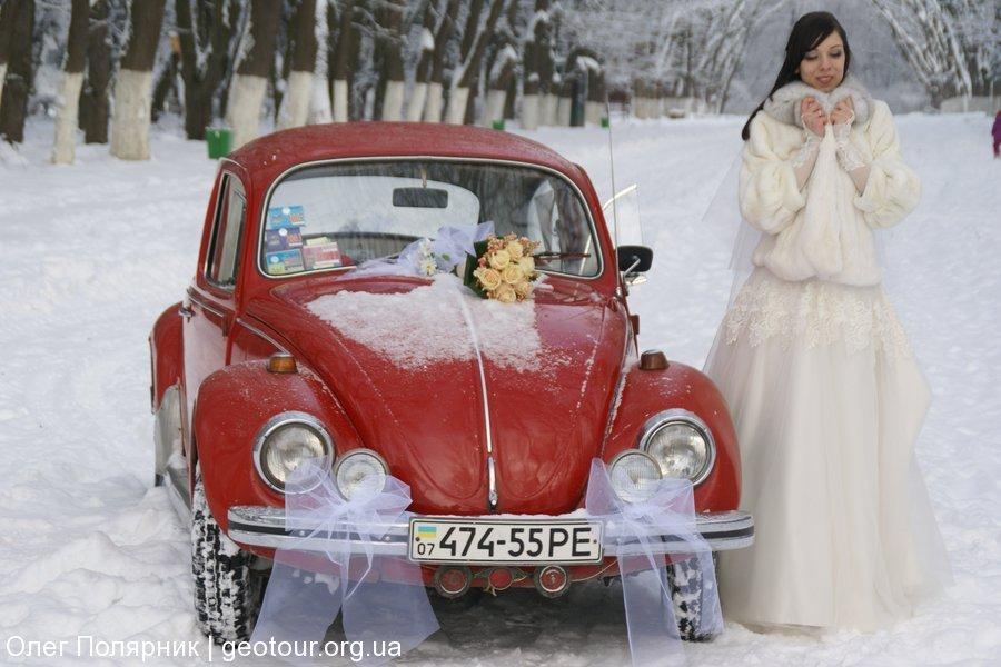 Свадьба и ретро-жук