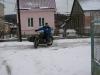 байк и снег